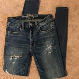 American Eagle Ripped High-Waisted Jeans